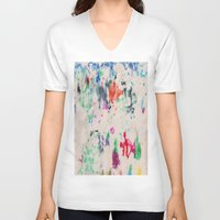 monet V-neck T-shirts featuring Monet Day by Ryan van Gogh