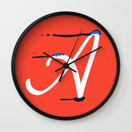 Dripping letter A Wall Clock
