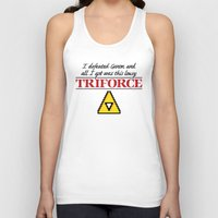 triforce Tank Tops featuring Lousy Triforce by Mike Handy Art
