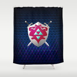 legend of zelda shield Shower Curtain