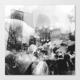 Union Square Pillow Fight Canvas Print