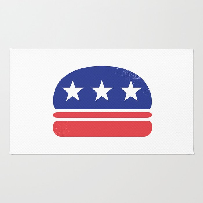 I Vote for Burger! Rug