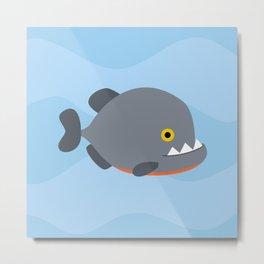 Piranhas pattern Metal Print