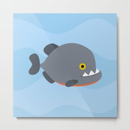Piranhas pattern Metal Print