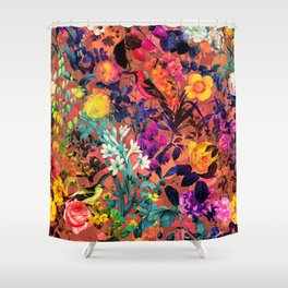 Floral and Birds II Shower Curtain