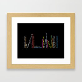Read More! Framed Art Print