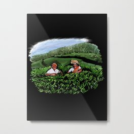 99 - Kerala tea estates… Metal Print