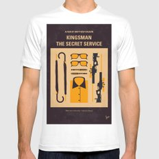 No758 My Kingsman minimal movie poster White Mens Fitted Tee MEDIUM
