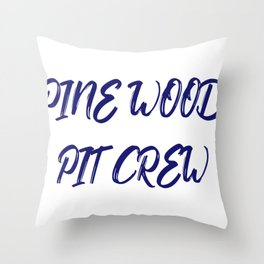 Boyscout Cubscout Pinewood Pit Crew Throw Pillow