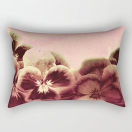 vintage tones pansies Rectangular Pillow