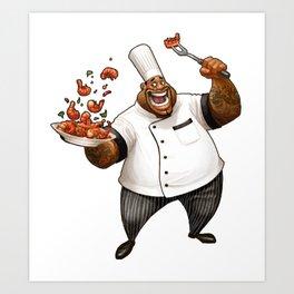 Chef Demetrius Gumbo Art Print