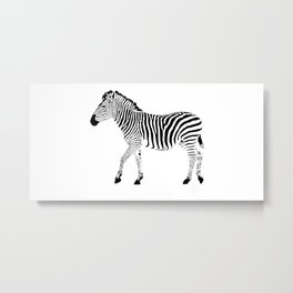 Zebra SW 1A Metal Print