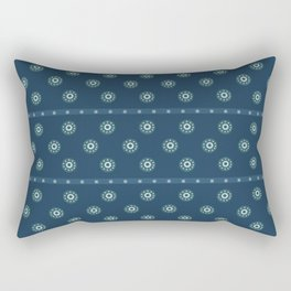 Blue Circles on Blue Rectangular Pillow