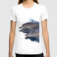 dolphins T-shirts featuring Dolphins by Chloe Yzoard