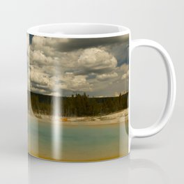 Sunset Lake Under A Cloudy Sky Coffee Mug