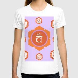 SACRAL SANSKRIT CHAKRAS  ASTRAL PURPLE PSYCHIC WHEEL T-shirt