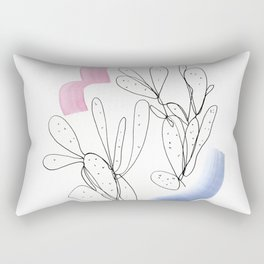 Contour Line Cactus 2 Rectangular Pillow