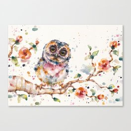 Yep, Cute Is My Middle Name (Owl) Canvas Print