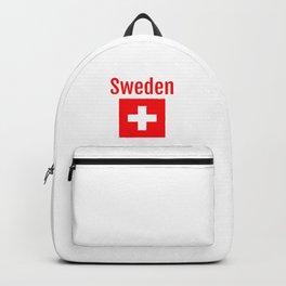 Sweden - Swiss Flag Backpack