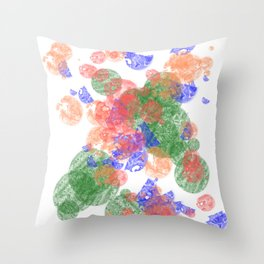 The Bubbles Throw Pillow