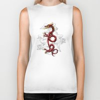 oriental Biker Tanks featuring Oriental Dragon by MacDonald Creative Studios