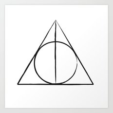 The Deathly Hallows Art Print