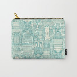 books and blankies teal pearl Carry-All Pouch