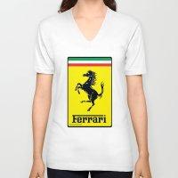 ferrari V-neck T-shirts featuring FERRARI by Smart Friend