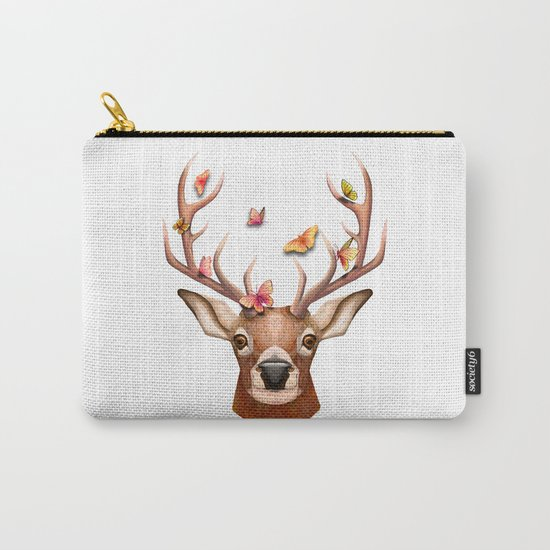 Stag and the Butterflies  Carry-All Pouch