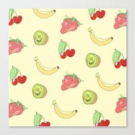 Yellow Fruit Pattern Canvas Print