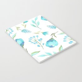 Blue watercolor flowers Notebook