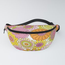 Thrifted Linen Rose Fanny Pack