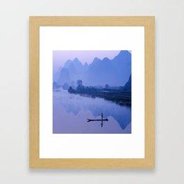LI RIVER AT DAWN-GUILIN CHINA Framed Art Print