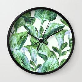 Isolde Leaves II Wall Clock
