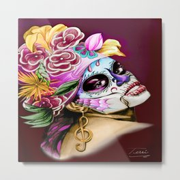 Antonia Dia de Los Muertos by Terri:Color Metal Print