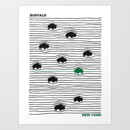 WAVY BFLO Art Print