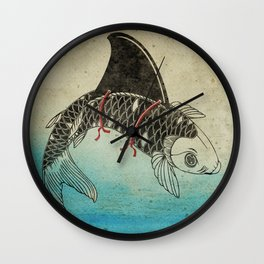 Koi Shark Fin Wall Clock