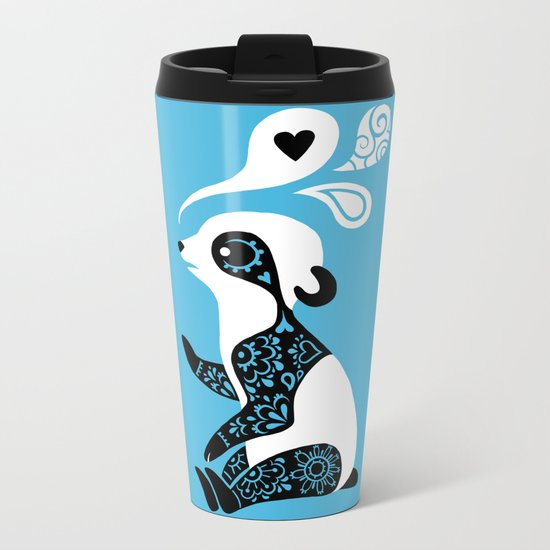 Panda 3 Metal Travel Mug