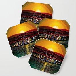 Angel Island Sunset (Square) Coaster