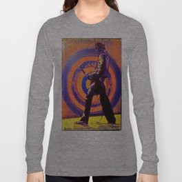 Abstract Jimmy Page Long Sleeve T-shirt