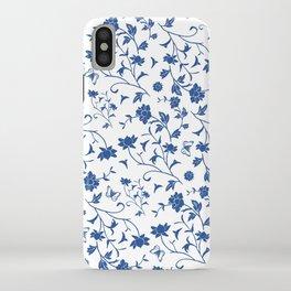 Blue China on White iPhone Case