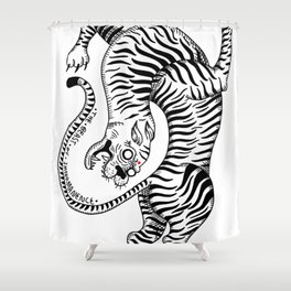 THE BEAST OF IMPERMANENCE Shower Curtain