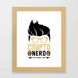 Crypto Nerd Bitcoin Framed Art Print