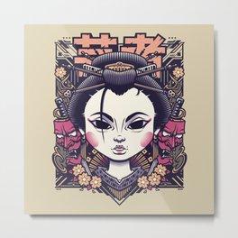 Geisha One Metal Print