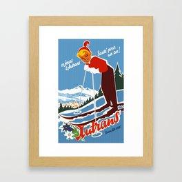Vintage Autrans France Ski Travel Framed Art Print