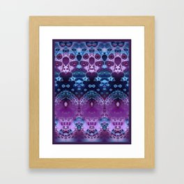 Hippy Blue and Lavender Framed Art Print