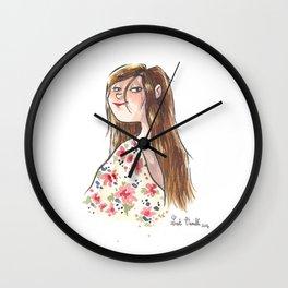 Jeune fille à fleurs Wall Clock