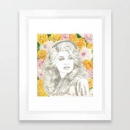 Jolene with Yellow Roses Framed Art Print