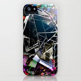 Broken blocks iPhone Case