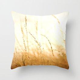Fields of Bronze Throw Pillow